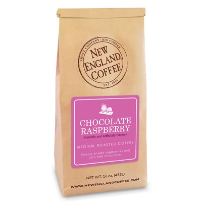 Bag of Chocolate Raspberry Flavored Coffee