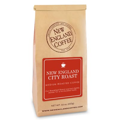 Bag of New England City Roast Coffee