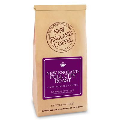 Bag of New England Full City Roast Coffee