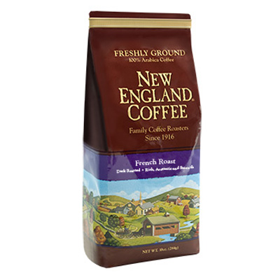 Packaging image for New England Coffee's French Roast flavored coffee