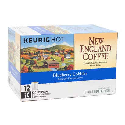 Box of blueberry cobbler single serve coffee