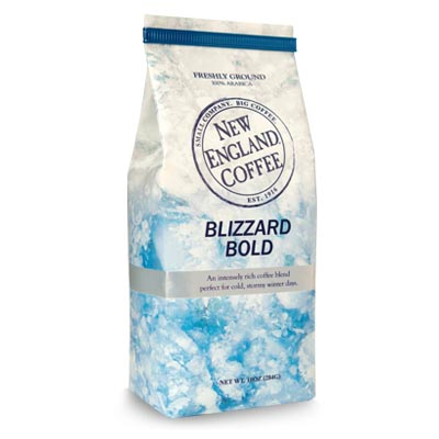 Packaging image for New England Coffee's Blizzard Bold flavored coffee