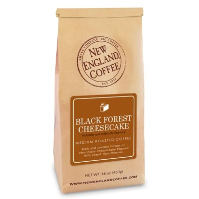 black forest cheesecake flavored coffee